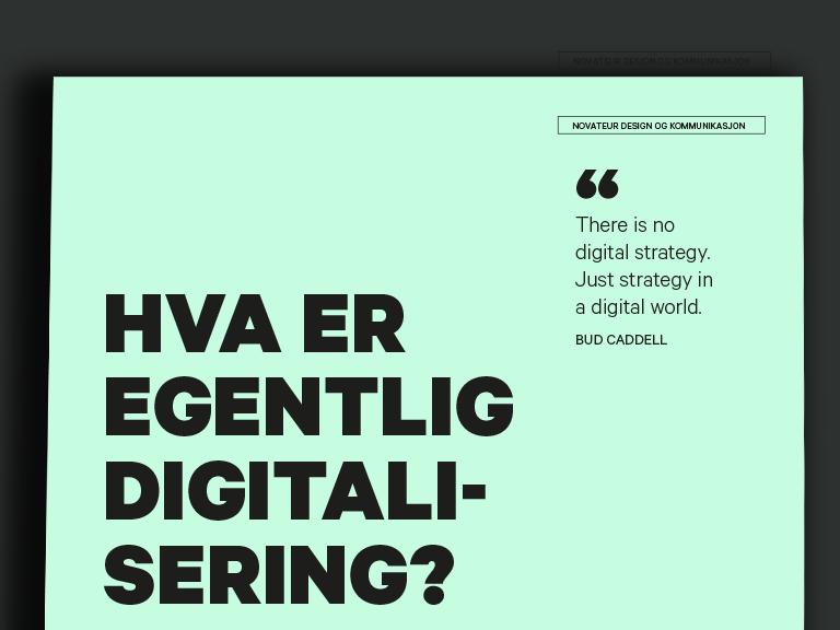 Hva er egentlig digitalisering?
