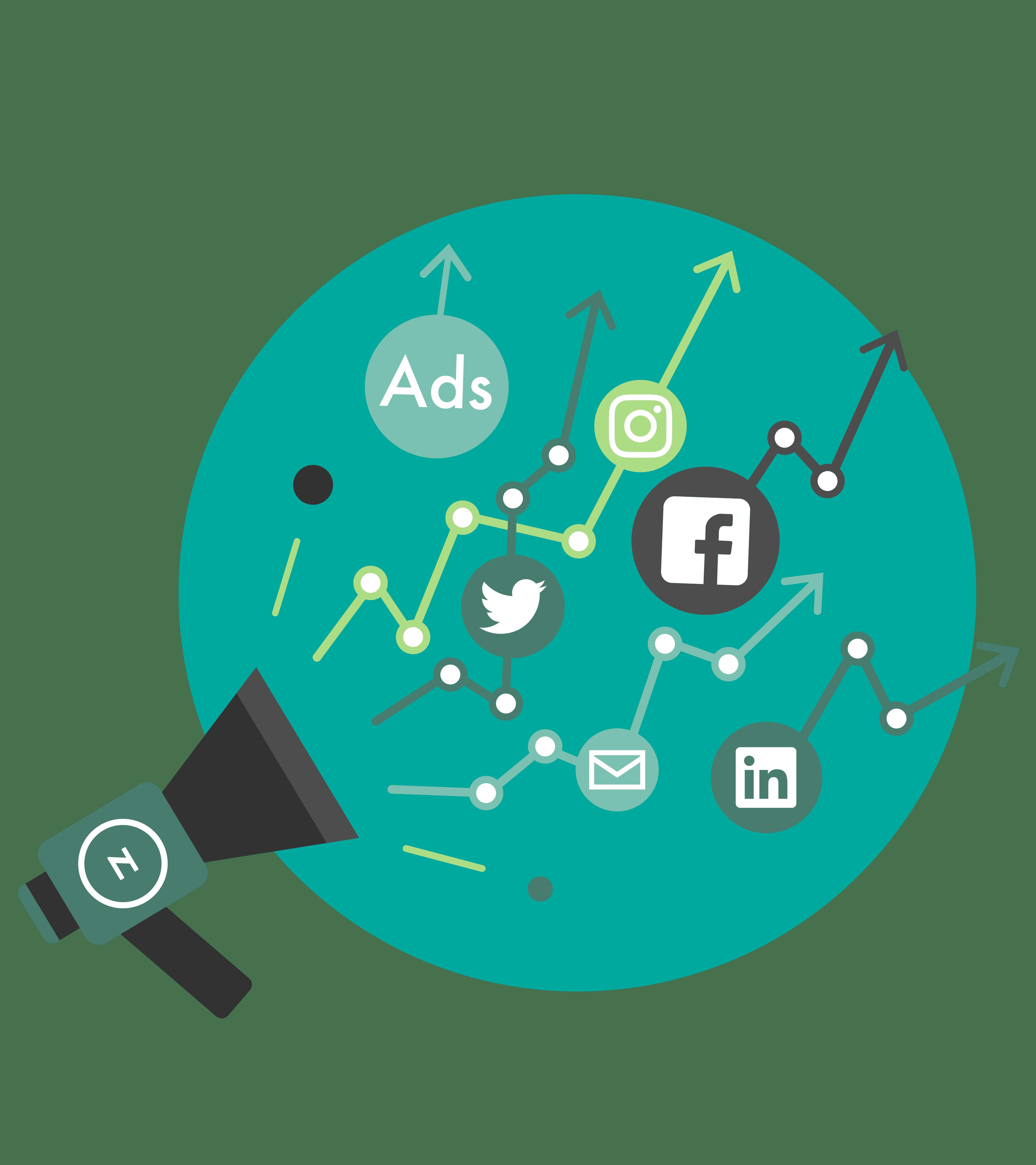 Illustrasjon digital markedsføring